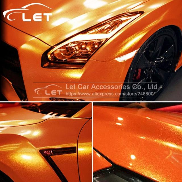 Le plus récent 1.52x20 m/Roll voiture style doré sable perle voiture film d'emballage en vinyle voiture wrap feuille rouleau voiture autocollant autocollant - 2