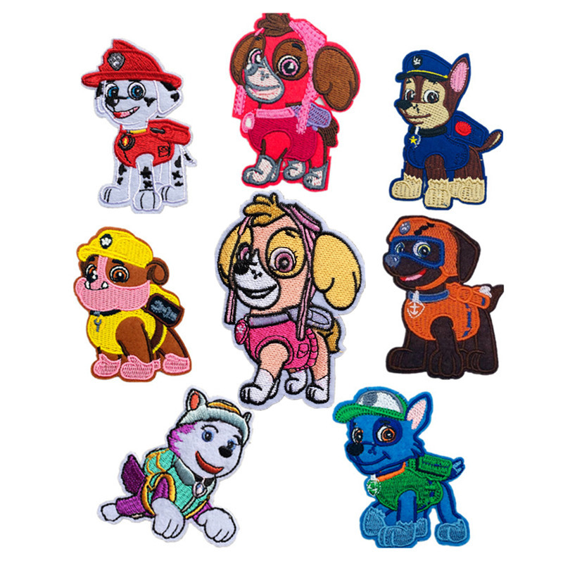 2018 June New Multicolor Dog Embroidery Cloth Patch Children