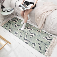 Decorative Mat Cotton Carpet Contracted Carpet Nordic Style Bedroom Mat Home