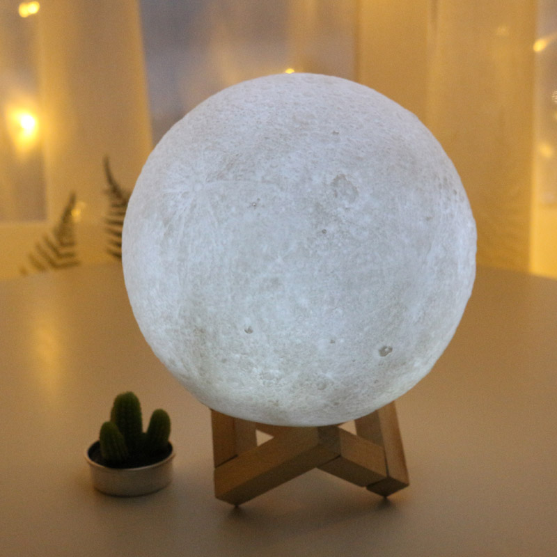 Small Night Light Moon Light LED Color White Yellow Creative Gift Soft Plastic Children Toy Room Decorative Lamp Decoration