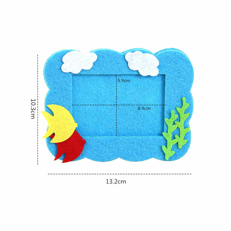 Cartoon Creative Non-Woven Fabric Photo Frame Children Birthday Party Holiday Decorations Collage Materials Bag Arts DIY Toys