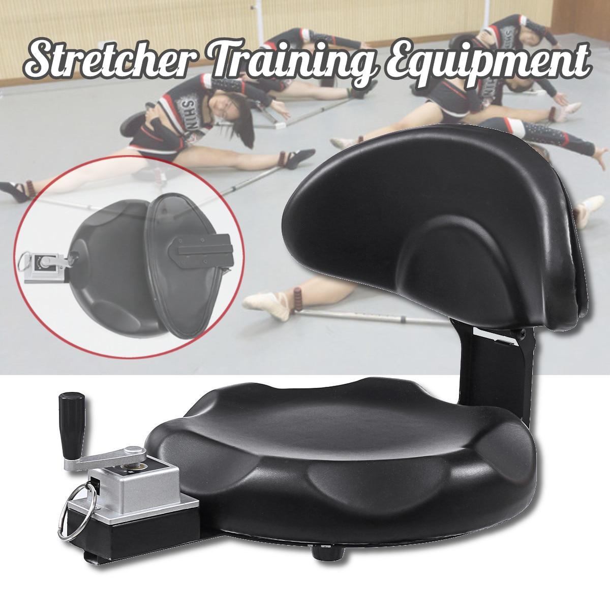 Noir pliable jambe civière Ligament étirement Machine jambe Split formateur Arts martiaux Yoga Fitness équipement de formation outils