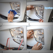 Lapetus Front Face Fog Lights Lamps Decoration Frame Cover Trim 2 Piece ABS Fit For Mitsubishi Eclipse Cross 2018 2019 2020 lapetus front head lights headlight switches button cover trim abs fit for mitsubishi eclipse cross 2018 2019