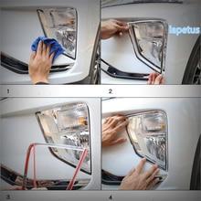Lapetus Front Face Fog Lights font b Lamps b font Decoration Frame Cover Trim 2 Piece