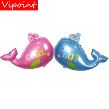 VIPOINT PARTY 90x72cm pink blue whale foil balloons wedding event christmas halloween festival birthday party HY-219