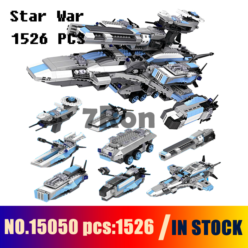 Compatible with lego Models building toy 15050 1526pcs 8in1 Military Star Wars Spaceship Aircraft Building Blocks toys & hobbies 2015 high quality spaceship building blocks compatible with lego star war ship fighter scale model bricks toys christmas gift