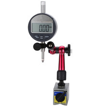 2Pcs Digital Dial Indicator 0-12.7mm/0.01 With Mini Magnetic Base Holder Gauge Caliper Measuring Tools