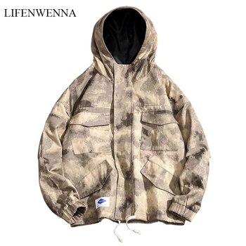 2019 nueva chaqueta de camuflaje para hombre, chaqueta de bombardero militar, chaqueta con capucha para hombre