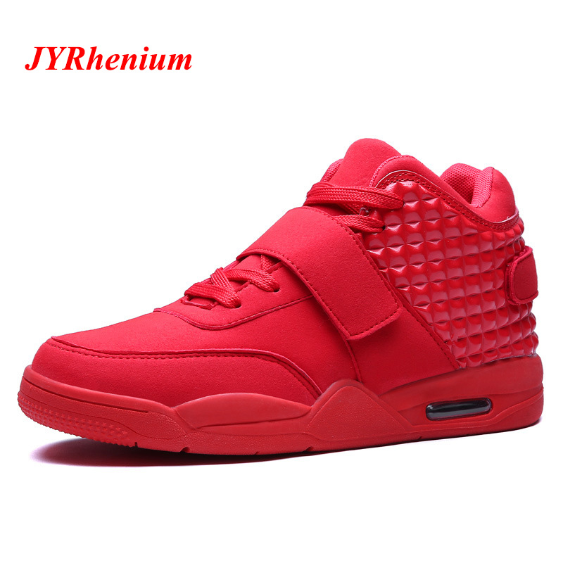 JYRhenium 2018 Big Size 39-46 Basketball Sneakers Boys Sport Sport Shoes Men Basketball Shoes New Cool Basketball Shoes For Men under armour men curry 5 basketball shoes stephen curry sport basketball sneakers male training unique socks design sport shoes