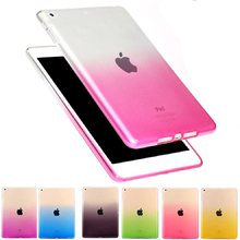 Soft Rainbow Case for Apple iPad mini 4 Cover A1538 A1550 Candy Color Protective Coque for iPad mini 4 Cover Anti-Dust(China)