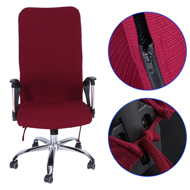 Swivel Chair Covers Yoga Exercises For Seniors Removable Stretch Computer Office Armchair Comfortable Seat Slipcovers