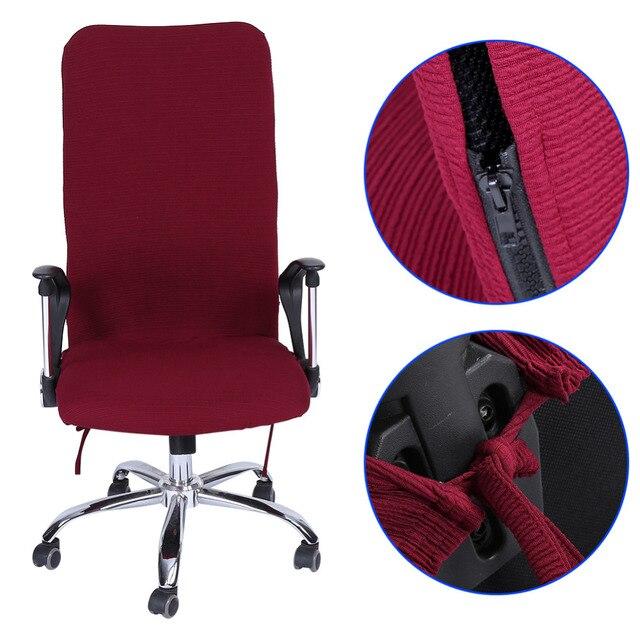 Zdejmowane Stretch Obrotowe Komputer Slipcovers Pokrowce Na Krzesła