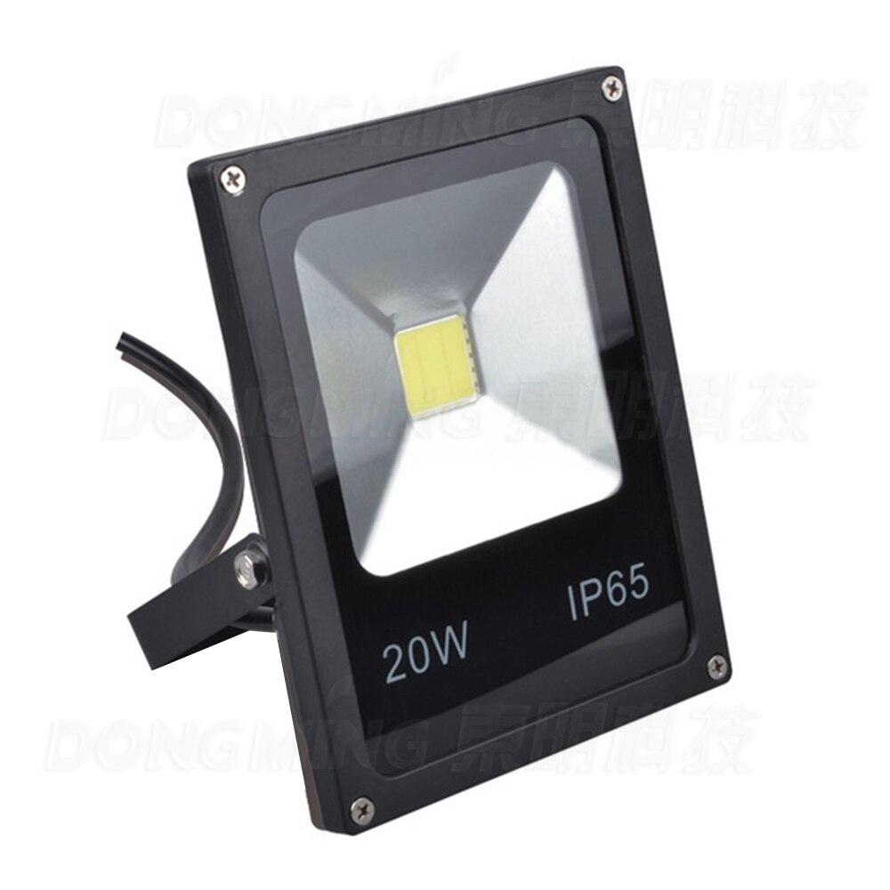 NEW Black Body Waterproof IP65 20W LED Flood Light AC85 265V Warm White/RGB