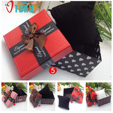 watch box Willby 1pc Ribbon Bokwnot Durable Present Gift Box Case For Bracelet Bangle Jewelry Watch 161221 Drop Shipping