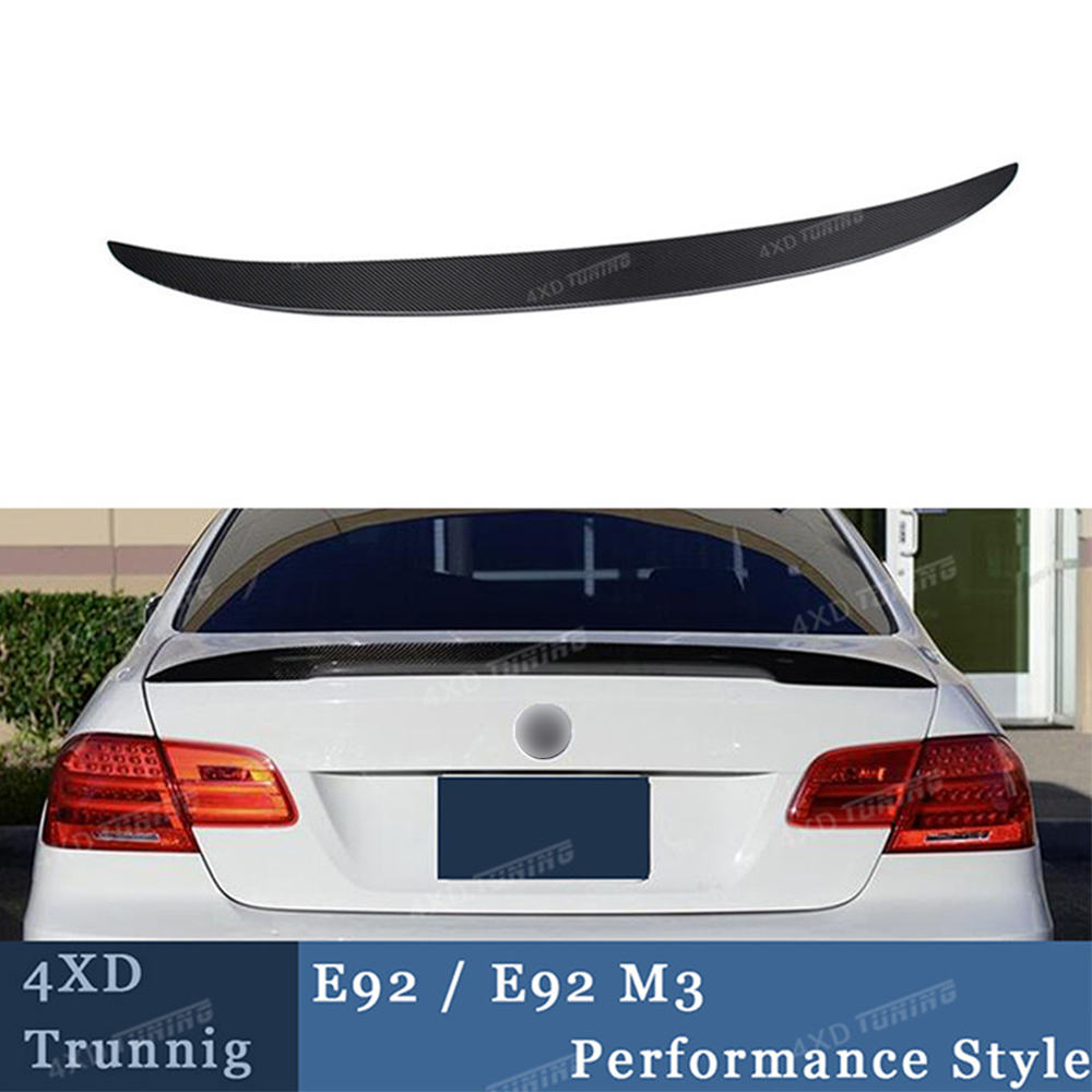 For BMW E92 Spoiler P Style 3 Series E92 & E92 M3 Carbon Fiber Rear Bumper Trunk Wing E92 Rear Spoiler car accessories 2005-2012 for bmw e92 carbon fiber spoiler p style 3 series e92 & e92 m3 carbon fiber rear spoiler rear trunk wing coupe 2 door 2005 2012