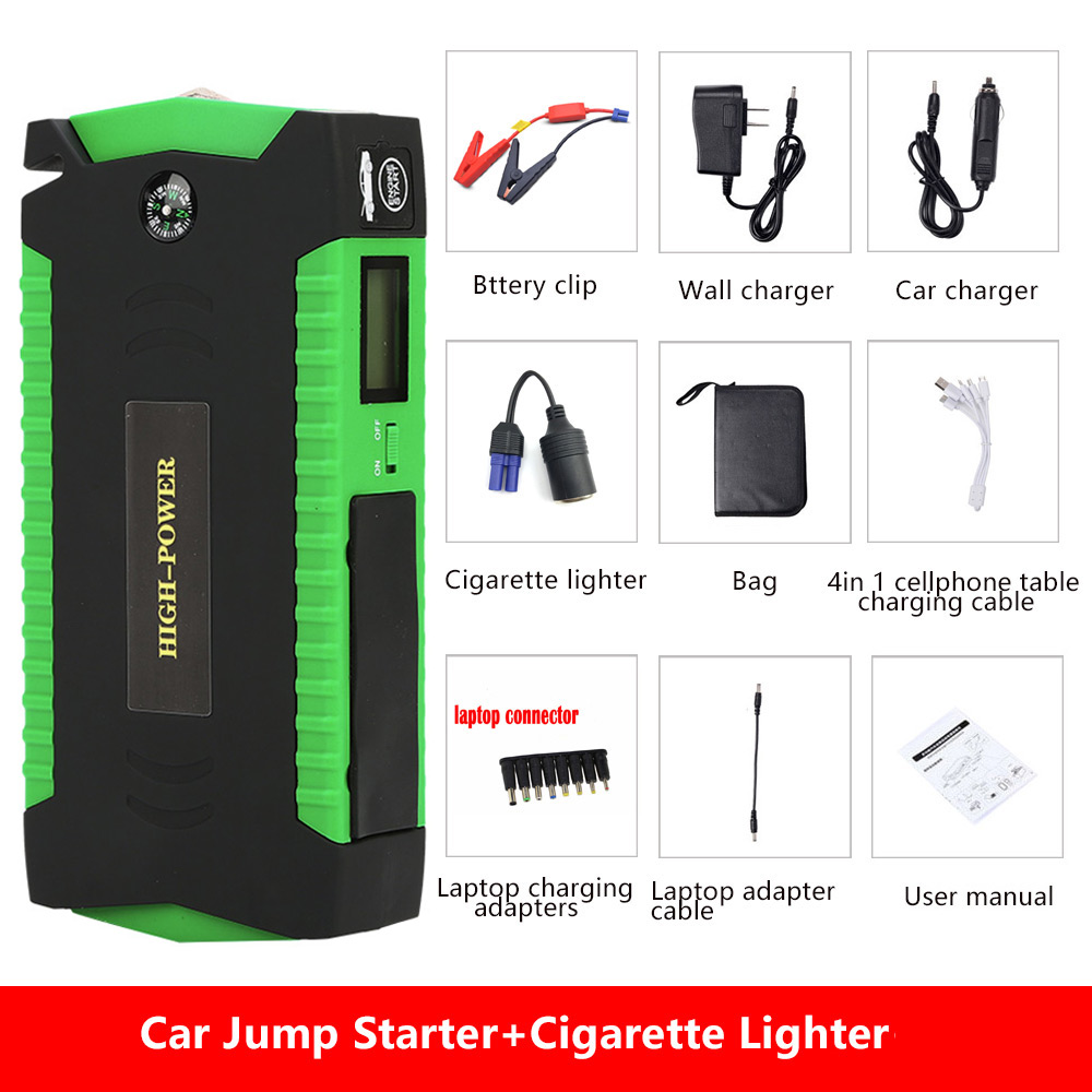 Best Selling Products 16000mAh Battery Charger Portable Mini Car Jump Starter Booster Power Bank For 12V Car Starting Device best selling car jump starter 50800mah emergency starter 12v portable mini engine booster car power bank booster charger