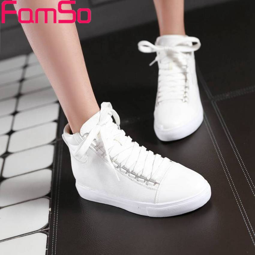 Free shipping 2016 new Fashion font b Women b font Spring Autumn Ankle Boots Designer canvas