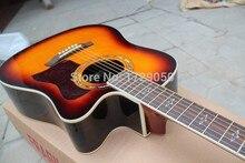 Kostenloser Versand Top Qualität natürliche holz 310 akustische gitarre sunburst akustikgitarre