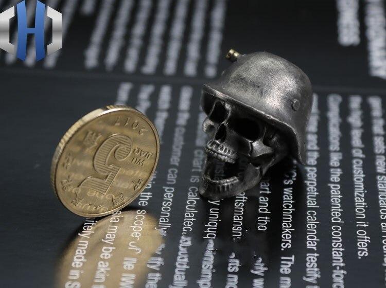 Огорченный Стерлинговое серебро латунь инкрустированный немецкий нож для шлема кулон EDC брелок Аксессуары для инструментов нож бусы - 5
