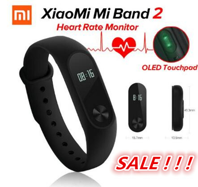 100%Original Xiaomi Mi Band 2 Miband2 Wristband Smart Bracelet with Smart Band Heart Rate Fitness
