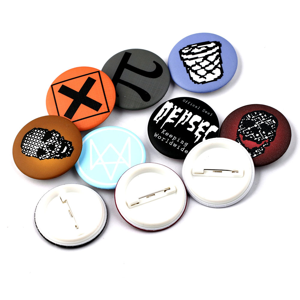 SamYeung 10 Style Watch Dogs 2 Buttons for Best Friends Badges School Bag Coat Badge Brooch Friendship Boys Cosplay Accessories