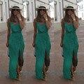 Sexy Women Summer Chiffon Dresses Long Maxi BOHO Evening Party  Solid Dress Beach Dresses Sundress