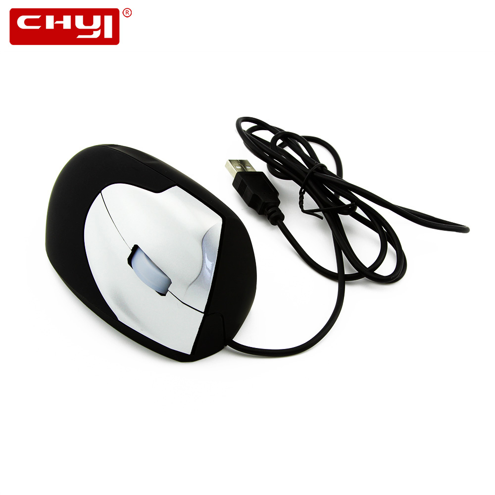 CHYI Vertical Ergonomic Computer Mouse Wired Usb Cable Optical 1600 DPI Mause 3D Cheap PC Upright Gaming Mice For Laptop Macbook image
