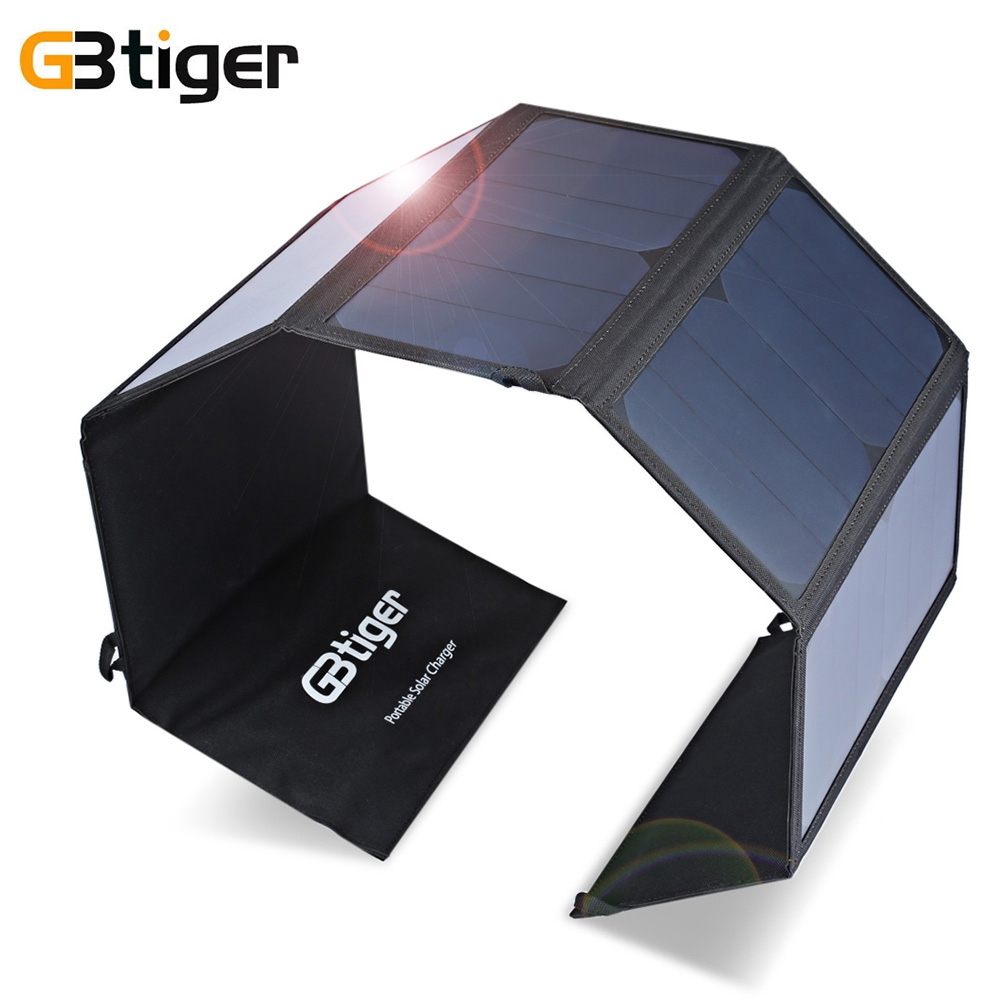 GBtiger 40W USB DC Output Solar Panel Foldable Solar Charger Waterproof Foldable Emergency Bag For Laptop Smartphone gbtiger black
