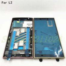 New For Sony Xperia L2 Front LCD Middle Frame Bezel Plate Chassis Housing Replacement Parts