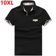Sommer große größe erhöht polo shirt herren 8xl xxl fett paul tasche polo 7xl männer kurzarm polo shirt große größe