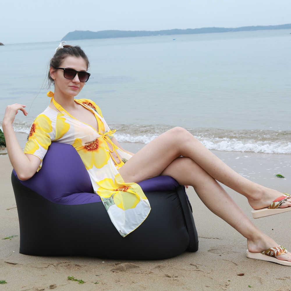 2019 odkryty szybka Infaltable kanapa dmuchana na piknik na plaży Park domu Camping piesze wycieczki podwórku śpiwór nadmuchiwane krzesło