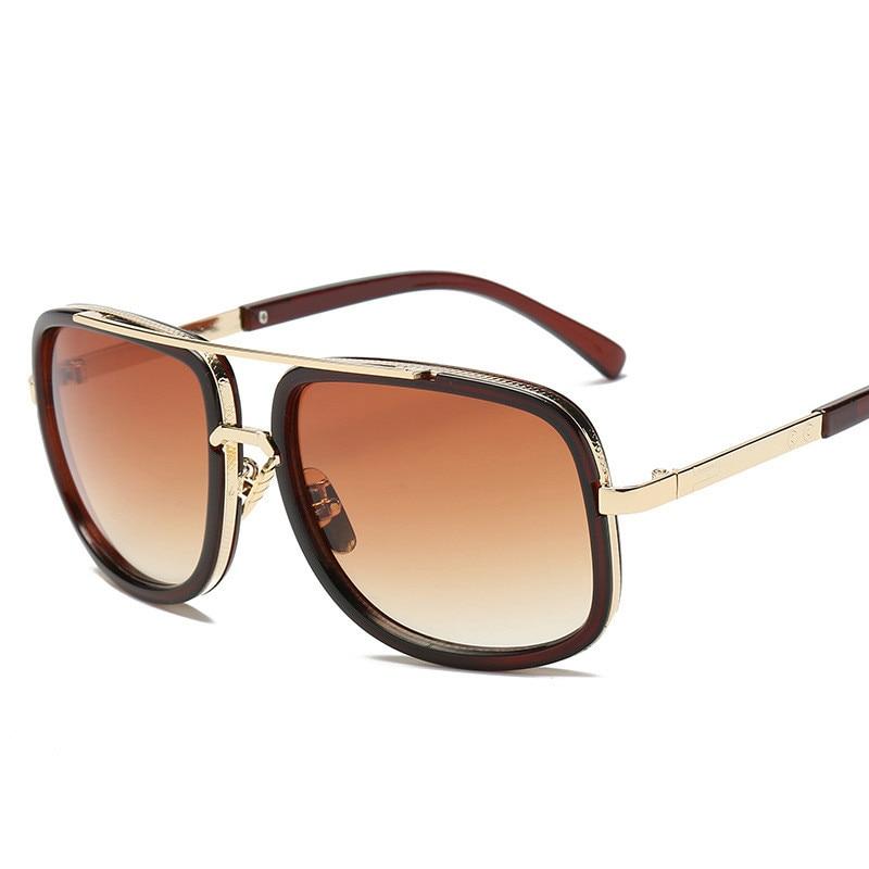 2019 New Fashion Big Frame Sunglasses Men Square Fashion Glasses for Women High Quality Retro Sun