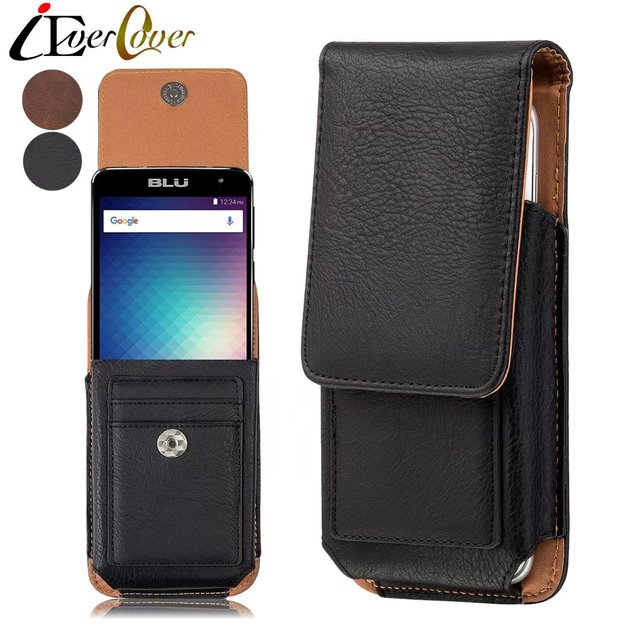 new styles d43c5 6ee90 US $9.96 25% OFF|Premium Vertical Leather Case Holster Cover w/ Swivel Belt  Clip for Blu Studio XL 2 , Energy XL , Neo XL Phone Pouch Bag Capa-in ...
