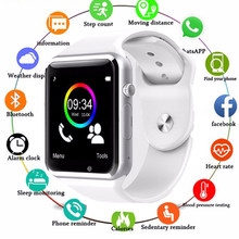A1 Smart Horloge Klok Sync Notifier Horloge Ondersteuning Sim Tf Card Camera Bluetooth-connectiviteit Apple Iphone Android Telefoon Smartwatch(China)