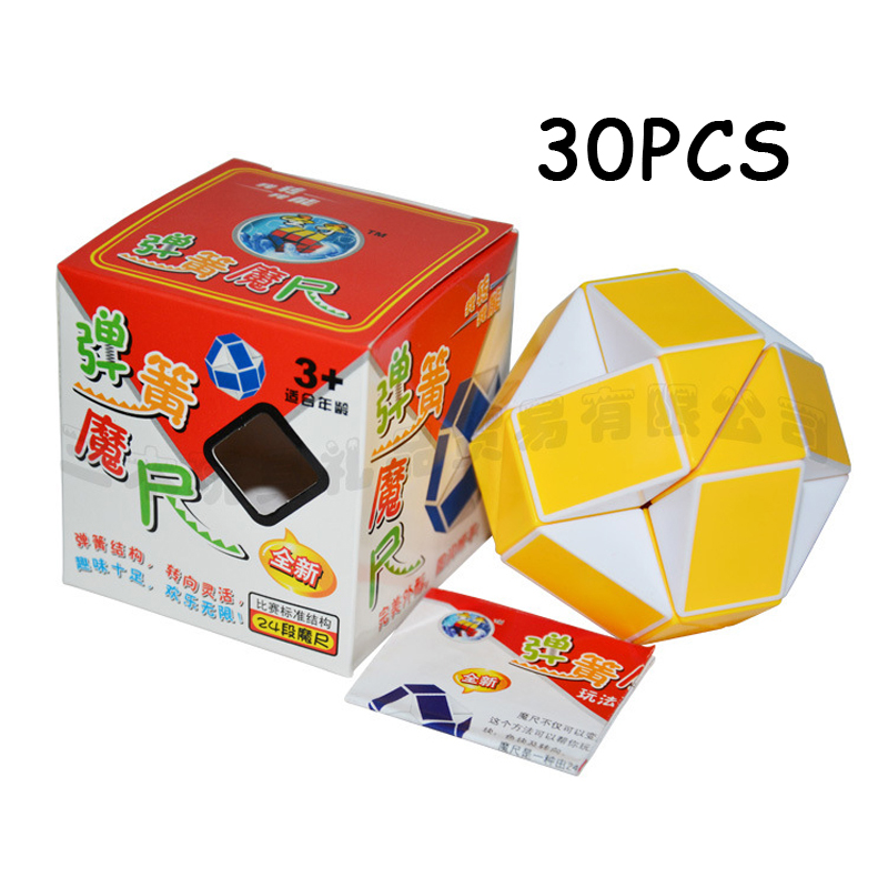 Dutiful 30pcs Shengshou Yellow White 24 Sections Cubo Magico Snake Ruler Magic Cube Speed Twist Puzzle Toys For Children Anti Stress Toy Toys & Hobbies Magic Cubes