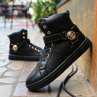 الرجال عالية أعلى الأحذية في سقوط اتجاه البيضاء عارضة أحذية الرجال لمساعدة عالية الرقص المد A0033 zapatillas hombre
