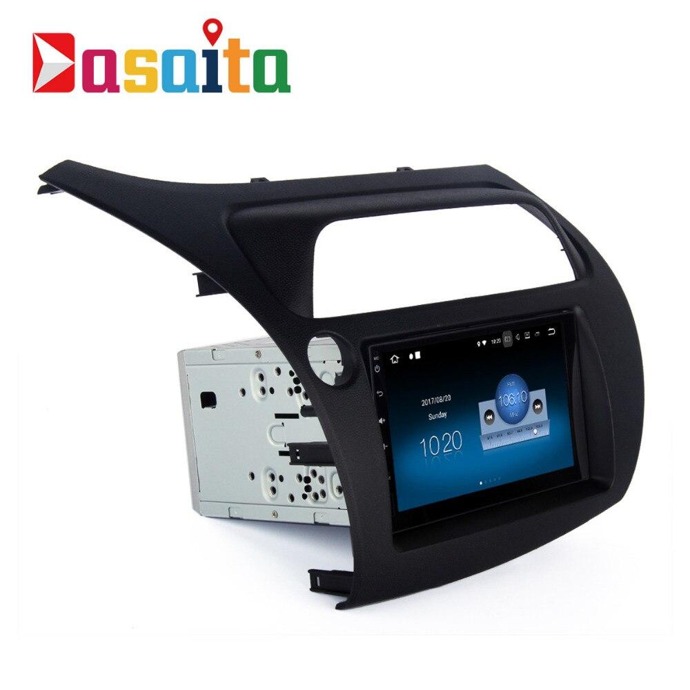 Dasaita 7 Android 7.1 Voiture GPS Lecteur Navi pour Honda Civic Hatchback 2006-2011 avec 2g + 16g Quad Core Stéréo Autoradio Vidéo HDMI