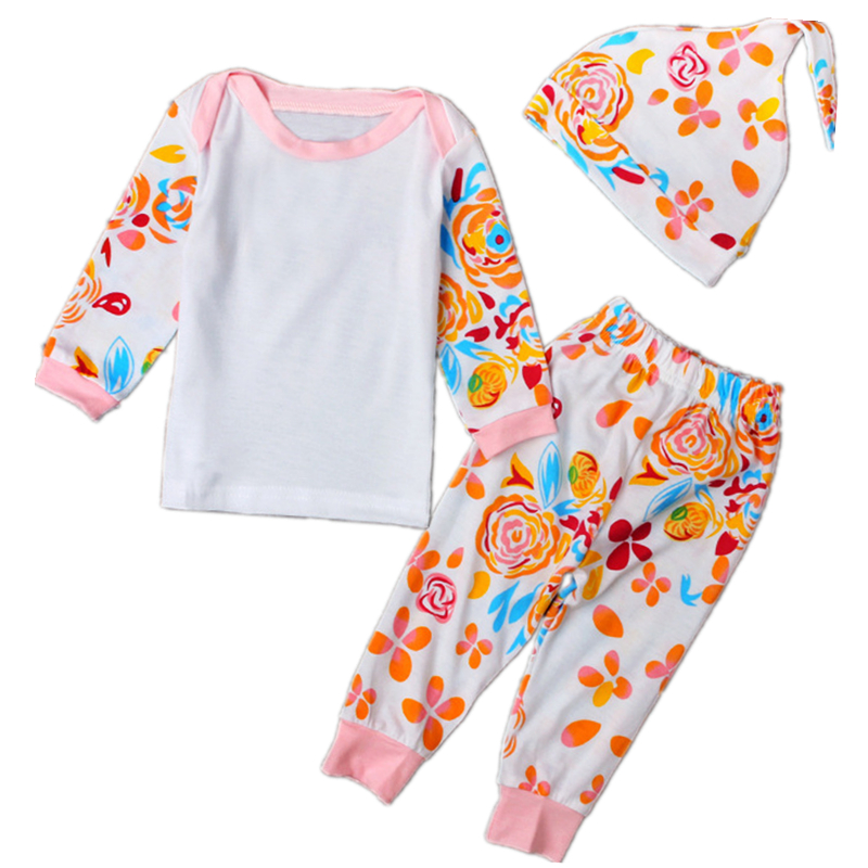 3PCs Baby Girl Clothes Cotton Baby Girl Clothing Set Autumn Newborn Baby Jumpsuits Long Sleeve Roupas Bebe Kids Printed Suit