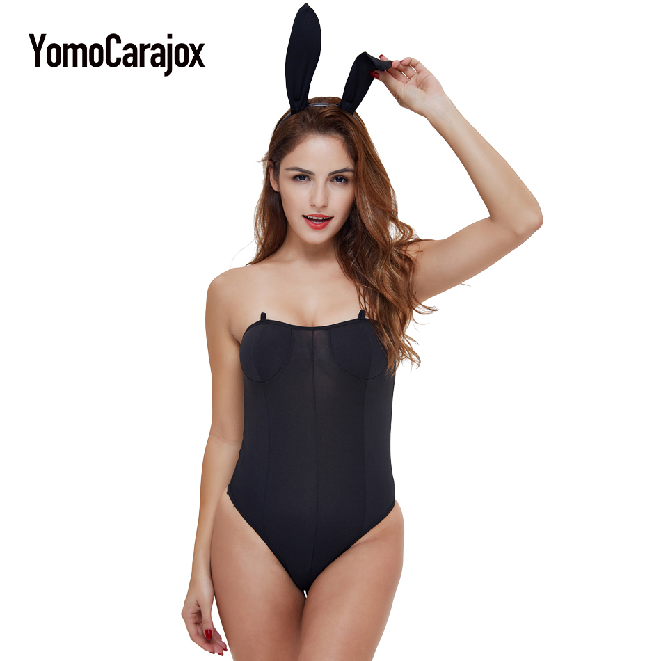 2017 New Arrival Sexy Underwear Bunny Leotard Bodysuit Set Catwomen Cospaly Bunny Girl Dress Classy Bunny Costume for Role Plays
