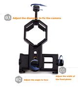 Telescope Universal Digital Camera Cell Phone Bracket Support Holder Mount Spotting Scopes Telescope Adapter Multifunction
