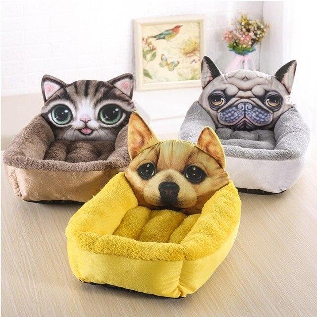 Nette Hundehutte Pad Matte Comic Hund Haustier Haus Weiche Katze