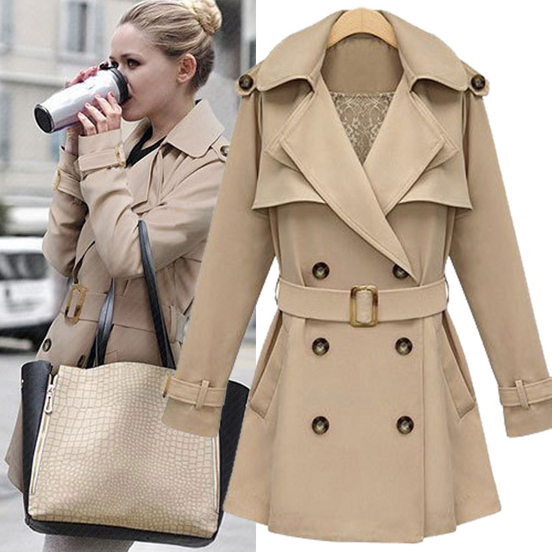 Popular Khaki Womens Coat-Buy Cheap Khaki Womens Coat lots from ...