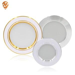Image 1 - LED Downlight תקרה לבן/לבן חם 5W 9W 12W 15W 18W led תקרת מנורה עגול שקוע AC 220V 230V 240V חדש סוג Downlight