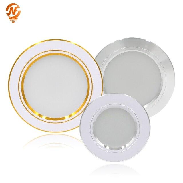LED Downlight תקרה לבן/לבן חם 5W 9W 12W 15W 18W led תקרת מנורה עגול שקוע AC 220V 230V 240V חדש סוג Downlight