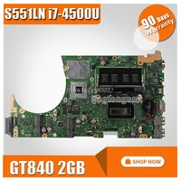for ASUS S551LB S551LN S551LA R553L motherboard GT840M 2GB N15S GT S A2 with i7 4500 cpu SR16Z mainboard 100% Tested