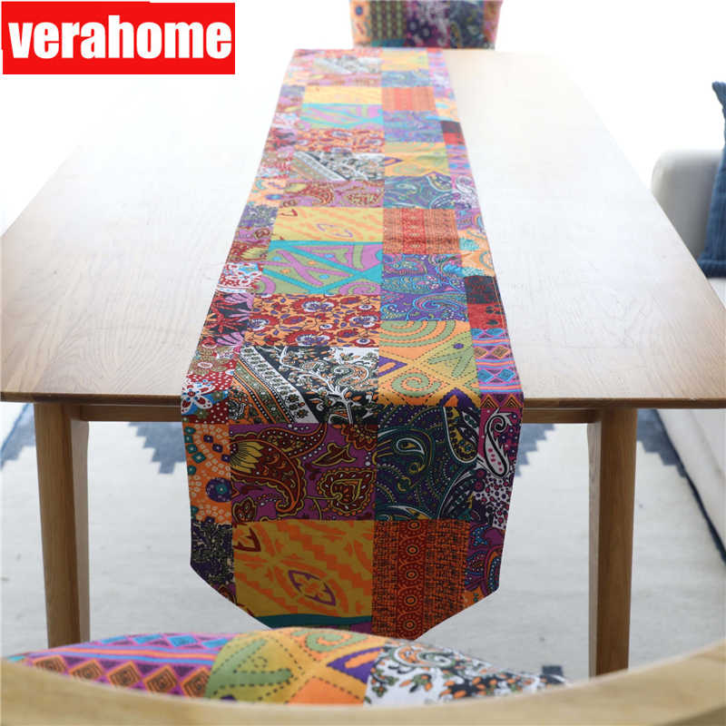 Bohemian style Table Runner Cotton linen dinner Wedding Party Tablecloth Decoration 30cm*180/220/240cm
