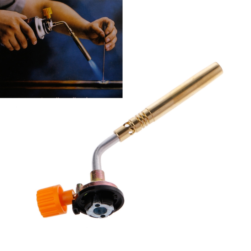 Flamethrower Burner Butane Gas Blow Torch Hand Ignition Camping Welding BBQ Tool