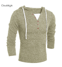 2017 New Spring Design Pull Homme Sweater Men Brand Clothing Solid Color Fashion Men's V-neck Sweater Casual Pullover Men Polo