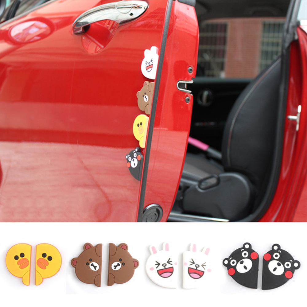 3D DIY Rubber Car Door Edge Anti Collision Sticker Strip Bar Bumper Protection Decals For Mini Cooper JCW Car Styling Accessory