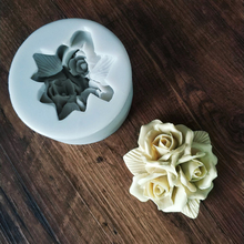 New rose type soft candy process silicone mold Candy chocolate cake decorating tool